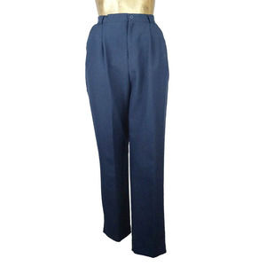 Vintage 1980's Boho Navy Blue High Rise Pants